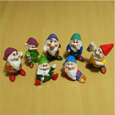 Disney Snow White Seven Dwarfs Ceramic Figure Figurine Ornament Vintage F/S