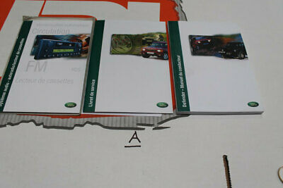 VDC000110FRE FRENCH Land Rover Defender TD5 hand book service portfolio + audio