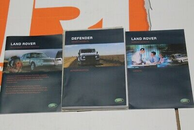 VDC501980 GERMAN Land Rover Defender TD5 Owners hand book service portfolio + wa
