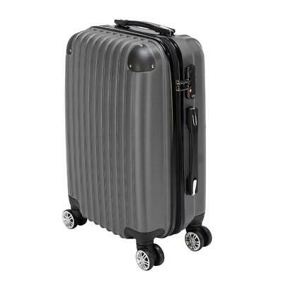 "20"" ABS Luggage Travel Set with 4 Wheels Bag Trolley Case Carry On Suitcase"