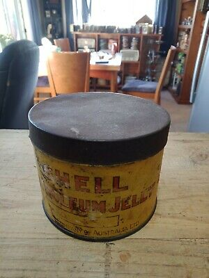 Early Shell logo 1 pound grease tin
