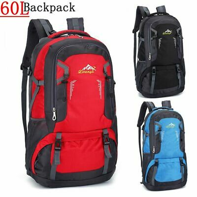 Extra Large Outdoor Backpack Travel Hiking Camping Sport Rucksack Luggage Bag UK