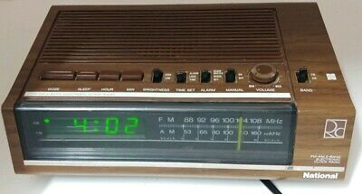 Vintage NATIONAL FM-AM 2 Band Electronic Clock Radio Made in Japan
