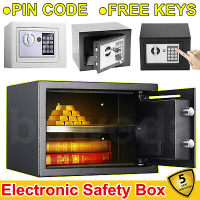 Digital Steel Safe Electronic Security Home Office Money Cash Safety Box New