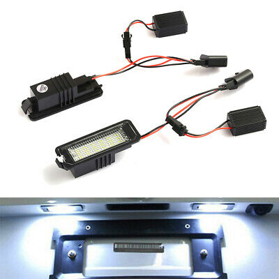 LED License Number Plate Light For VW Golf MK4 MK5 MK6 Passat Polo Scirocco