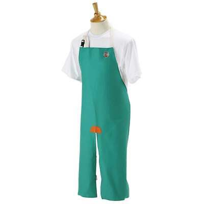 "Black Stallion F9-36SL 36"" 9 oz Green Flame Resistant Cotton Split Leg Bib Apron"