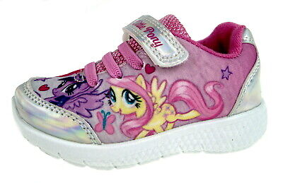 My Little Pony Girls Iridescent Sports Trainers Sparkle Flat Pumps Nursery Shoes