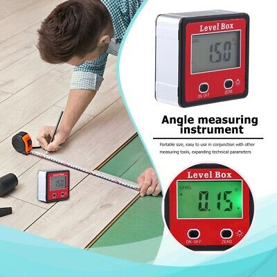 ES 0-360° LCD Digital Angle Meter Inclinometer Protractor Bevel Gauge Finder US