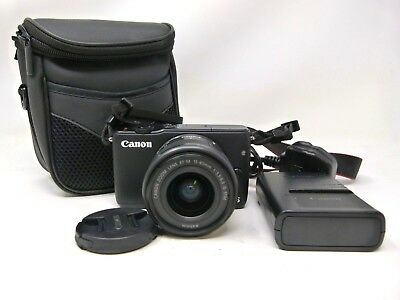 Canon EOS M10 DSLR Camera with 15-45mm IS STM Lens - Black-Used
