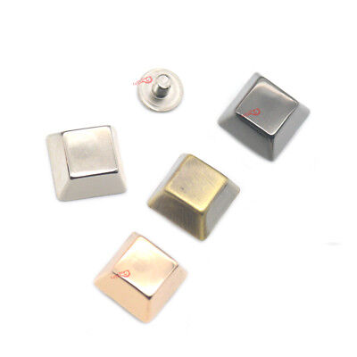 Bucket Punk Spike Screw Back Buttons Square Studs Rivet Crafts Leather bags KK4