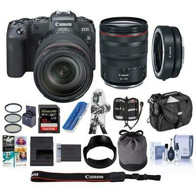 Canon EOS RP Mirrorless Camera with Canon RF 24-105mm F4 L IS Lens W/PC ACC KIT