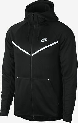 Nike Air Max Half Zip Chevron Jacket Black Mens