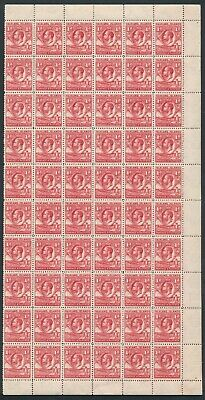 SG 117 falkland island 1929 1d scarlet block of 60. pristine unmounted mint