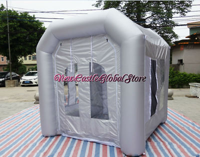 Custom Made Portable 8 Pied par 8 Pied Gonflable Spray Peinture Booth Boitier