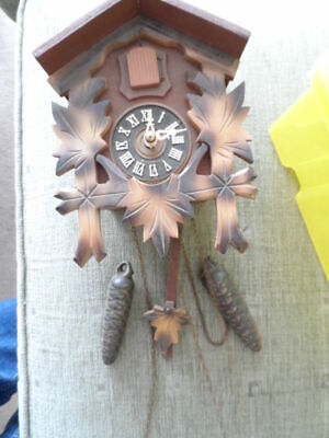 Small German Cuckoo Clock With Weights
