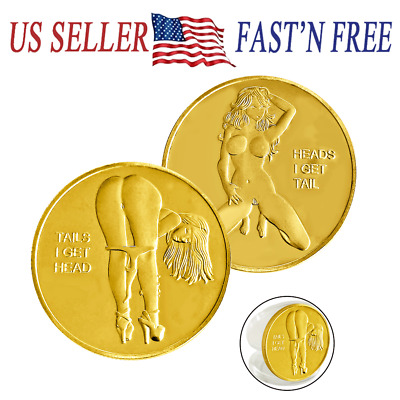 Tails I Get Head ! Sexy Heads Tails Challenge Token Coin US SELLER FAST SHIPPING