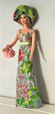 Handmade OOAK *Flora* Maxi Dress Outfit for Vintage Francie Barbie Doll