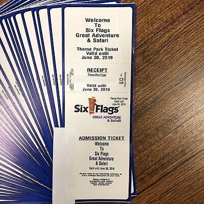 Six Flags Great Adventure & Safari 1 Day Admission Ticket. NJ. $82 Value for $30