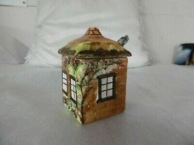 Vintage 1940-50s STAFFORDSHIRE POTTERY: Cottage Ware Jam POT & Spoon