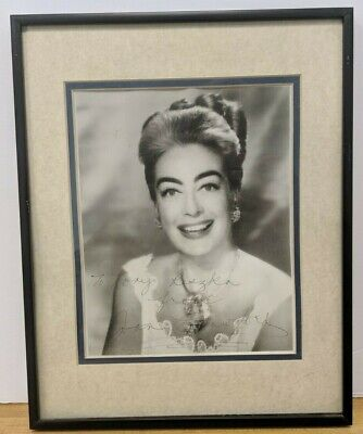 "Joan Crawford Signed Autographed 8x10"" Photo Framed 14x11"" w/COA"