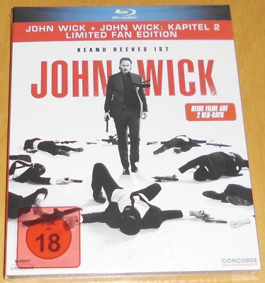 John Wick 1 & 2 Limited Fan Edition Blu-ray Neu & OVP