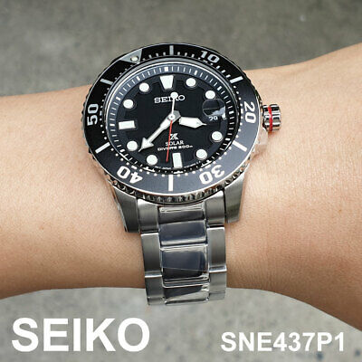 SEIKO SNE437P1 Prospex Diver Solar 43mm Stainless Steel Mens Watch