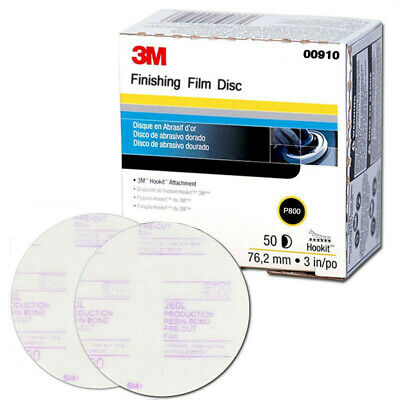 00910 P800 grit 3M™ 0910 Hookit™ Finishing Film Disc 3 inch
