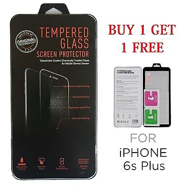 Tempered Glass Screen Protector For Apple Iphone 6 Plus & 6S Plus 100% Genuine
