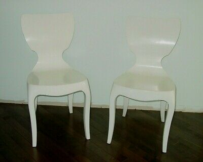 Vintage Pair Mid-Century Modern Side Chairs Bent Plywood ? Jacobsen?