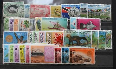 TRINIDAD TOBAGO Fine MNH Collection of Early QEII Stamp Sets + Miniature Sheets