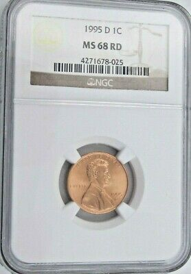 1995 D Lincoln Memorial Cent/Penny - NGC MS 68 RD (8-025)
