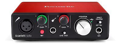 OPEN BOX B-STOCK - FOCUSRITE SCARLETT SOLO (2ND GEN) - USB INTERFACE Auth Dealer