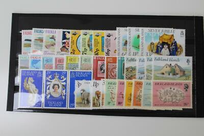 FALKLAND ISLANDS Fine MNH Collection of 11 Early QEII Stamp Sets Cat £30