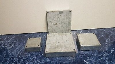 4 Metal Adaptable Junction Boxes With Knockouts Various Sizes