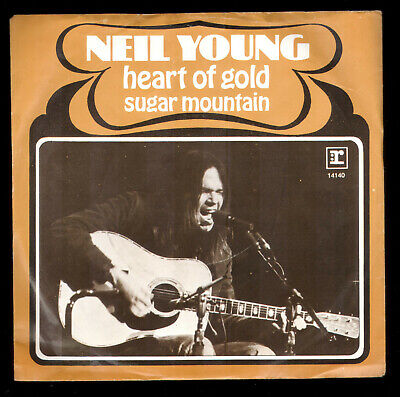 "Neil Young Heart Of Gold Dutch Vinyl 45 Record 7"" W/Pc Holland"