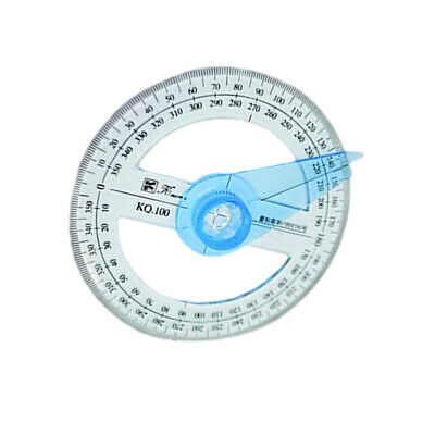 2Pcs 360 Degree Circle Pointer Protractor School Supply School Protractor Ruler