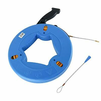 Fish Tape Fiberglass Wire Cable Electric Running Rod Duct Rodder Puller CA SHIP