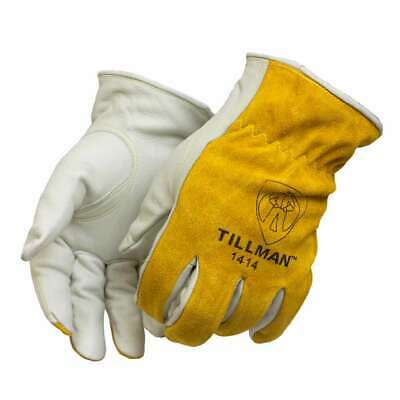 Tillman 1414 Top Grain/Split Cowhide Drivers Gloves, Medium