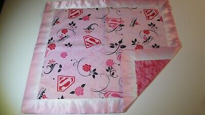 "Girls ""Superman"" Lovey-Pink B/G-Gr8 For Children-Satin Binding"
