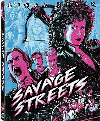 SAVAGE STREETS (1984) Blu-Ray *UNCUT GORE Limited Ed. CODE RED *w/RARE SLIPCOVER
