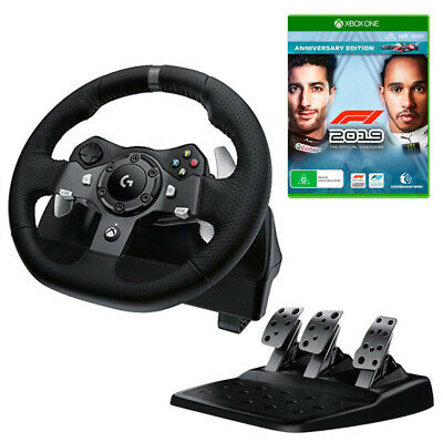 Logitech G920 Driving Force Racing Wheel with F1 2019 Anniversary Edition Bundle