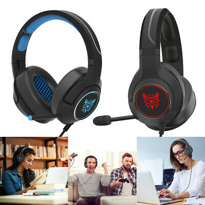 KQ_ ONIKUMA K9 3.5mm Wired Gaming Headset Stereo Headphone Mic for PC PS4 Mystic