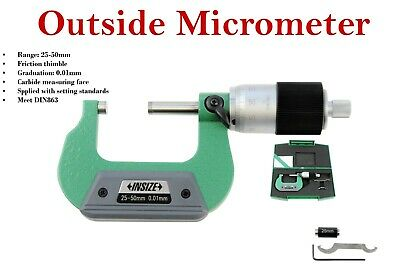 Insize Quick Feeding Outside Micrometer 25 - 50 mm series:3208-50B