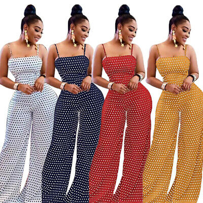 Women's Beach Sleeveless Bohemian Holiday Long Jumpsuit Casual Slim Jumpsuit