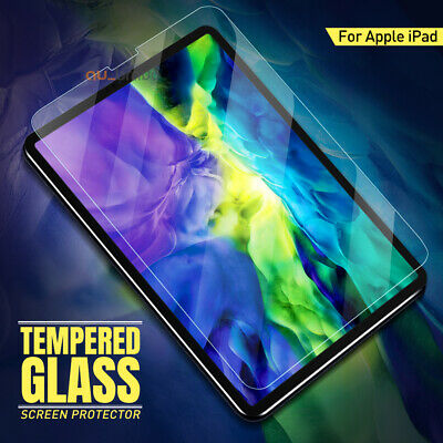 "Apple iPad Pro 11"" 12.9"" 2018 10.5"" 9.7"" 10.2"" Tempered Glass Screen Protector"