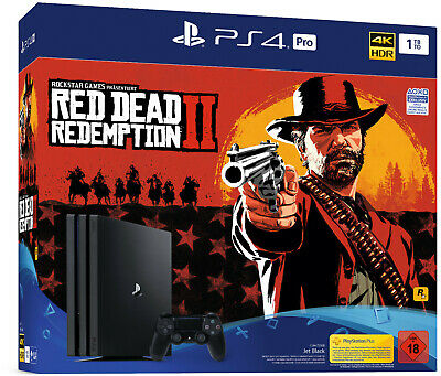 SONY PS4 Pro 1TB CUH-7216B + Red Dead Redemption 2 + Controller USK18 B-WARE