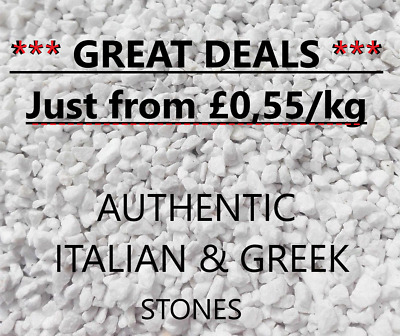 300-600-900kg White Stones Chipping Pebbles Gravel Garden Path Driveway Pond
