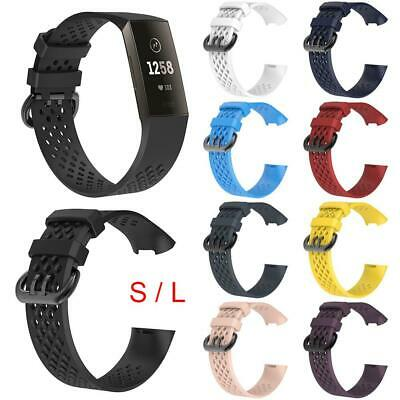 Replacement Bands Sport Watch Bracelet Wrist Strap Breathable For Fitbit Charge3