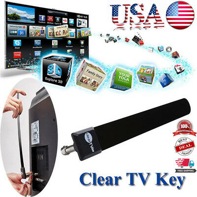 USA Clear TV Key HDTV FREE TV Digital Indoor Antenna Ditch Cable As Seen on TV,