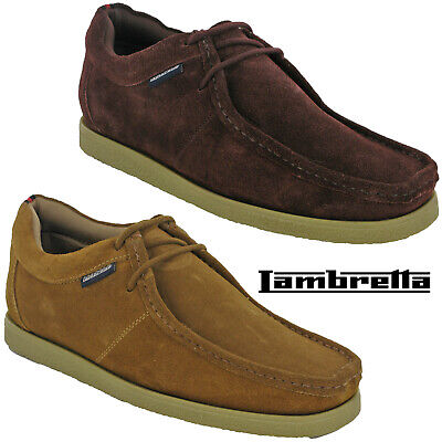 Lambretta Woodstock Mens Classic Wallabee Leather Lace Up Casual Smart Shoes